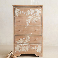 Pearl Inlay Narrow Dresser by Anthropologie Neutral One Size Furniture