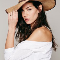 Free People Cancun Flat Brim Cowboy Hat