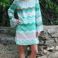 Seaside Chevron Shift Dress