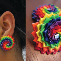 Rainbow Earrings by RockinRainbow on Etsy