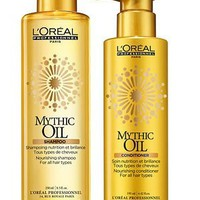 L'OREAL PROFESSIONAL MYTHIC OIL Shampoo 8.5oz and Conditioner 6.42oz