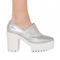 Holographic Platform Shoes