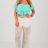 Flow Where You Want Top: Mint