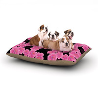 "Julia Grifol ""Pink on Black"" Dog Bed"