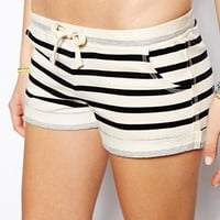 ASOS Stripe Roll Hem Beach Short