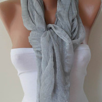 Light Grey Scarf Trendy by SwedishShop on Etsy