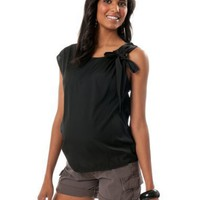 A Pea in the Pod: Sleeveless Knot Shoulder Maternity Blouse