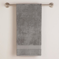 FROST GRAY COTTON BATH TOWELS