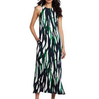 AK Anne Klein Women`s Modern Line Print Maxi Dress