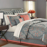 CLOSEOUT! Martha Stewart Collection Grand Damask 24 Piece Comforter Sets
