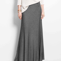 Bias Stripe Maxi Skirt