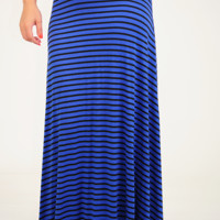 Lay It On The Line Skirt: Blue