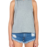 Sleeveless Hoodie - Heather Gray