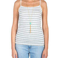Striped Cami - White