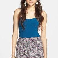 Soprano Print High Waist Woven Shorts (Juniors)