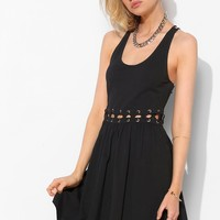 Sparkle & Fade Lace-Up Waist Cutout Dress - Urban Outfitters