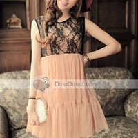 YW Stylish Summer Style Sexy Lace &amp; Gauze Women Dresses  - DinoDirect.com