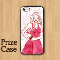GIRL IPHONE 5S CASE Pink Beautiful Dress With Snow Bg iPhone Cases iPhone 5 Case iPhone 4 Case Samsung Galaxy S4 Cover iPhone 5c iPhone 4s