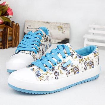 Floral Canvas Shoes, Casual Shoes