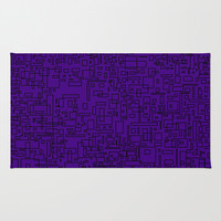 Purple Squares two Area & Throw Rug by Saykada