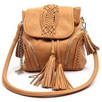 Braided Tassel Shoulder Diagonal Package