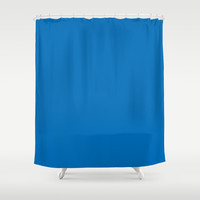 Dazzling Blue Shower Curtain by BeautifulHomes | Society6
