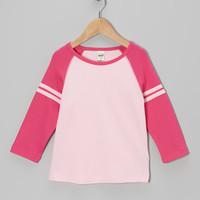 Hot Pink & Baby Pink Raglan Tee - Girls | something special every day