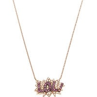 Lol Necklace In 18K Rose Gold, Diamond And Pink Sapphire by Diane Kordas - Moda Operandi