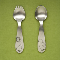 Baby Bird Fork And Spoon Set