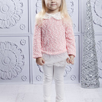 Pink & White Tweed Tunic & Leggings - Girls | something special every day