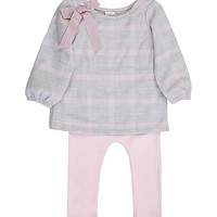 Gray & Pink Plaid Tee & Pink Leggings - Infant | something special every day