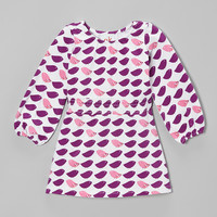 Indigo & Pink Bird Shirred Dress - Infant, Toddler & Girls | something special every day