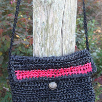 Black and Red Shoulder Bag