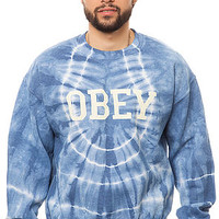 The Collegiate Obey 2 Crewneck in Light Indigo