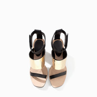 HIGH HEEL SANDAL WITH METALLIC DETAIL