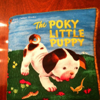 Cloth Book Pokey Puppies  Ready to ship  by DesignsByDiBlankets