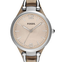 Fossil 'Georgia' Leather Strap Watch, 32mm | Nordstrom