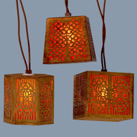 Carved Wood String Lights
