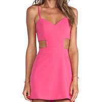 Naven Sweetheart Cutout Dress in Pink