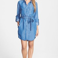 Velvet Heart Roll Sleeve Chambray Shirtdress | Nordstrom