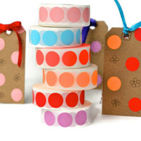 Circle stickers – self-adhesive labels » Craftori