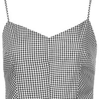 BLACK GINGHAM BRALET