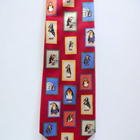 Vintage Windsor Penguin Necktie 1980s