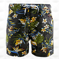 Stussy Hawaiian Swim Shorts in Black - Urban Outfitters