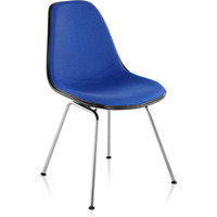 eames® molded side chair upholstered 4-leg base