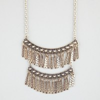 FULL TILT 2 Tier Chain Fringe Necklace