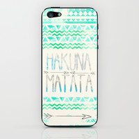 Hakuna Matata iPhone & iPod Skin by Sara Eshak