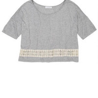 Crochet Bottom Inset Short-Sleeve