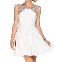 Promo-fitzgerald White Prom Dress
