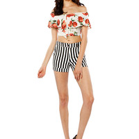 Papaya Clothing Online :: CONTRAST STRIPE SHORTS